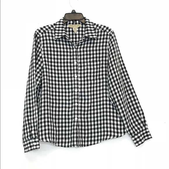 8c77cd1a86 Jones NY Country Gingham Linen Blouse